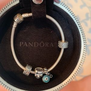 Pandora bracelet &2charms WILLING TO SELL SEPARATE